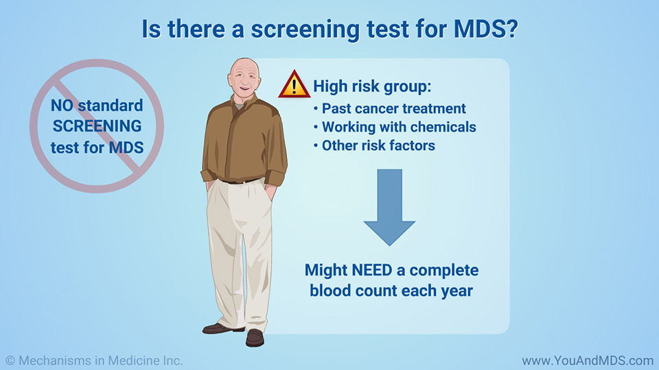 Is there a screening test for MDS?