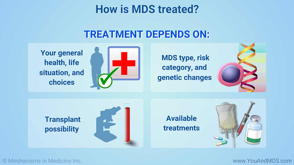 How is MDS treated?