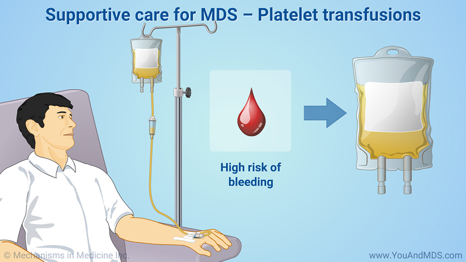 Supportive care for MDS – Platelet transfusions
