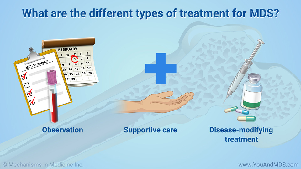 What are the different types of treatment for MDS?