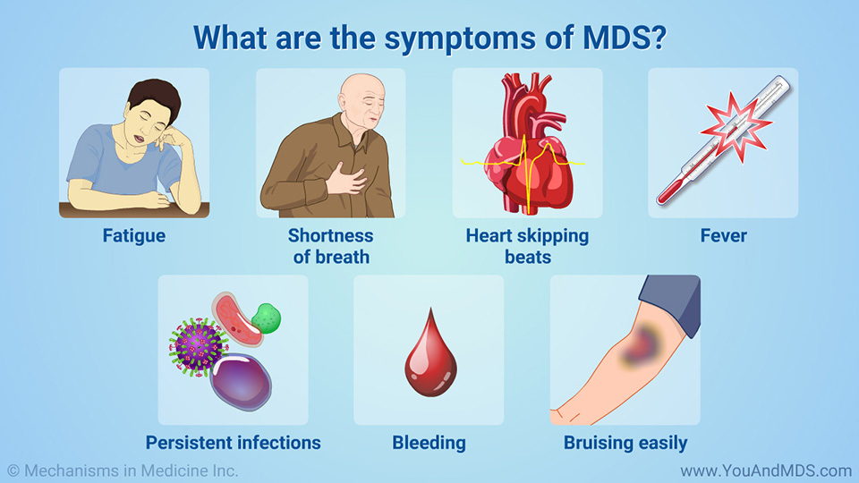 What are the symptoms of MDS?