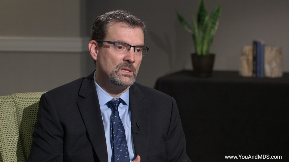 How does acute myeloid leukemia (AML) relate to MDS?